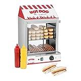 Royal Catering Hot Dog Steamer RCHW 2000 Würstchenwärmer für bis 200 Würstchen 50...