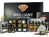 BRILLIANT INFUSION | Komplettes 3 in 1 DIY Whisky-Tasting Probier-Set | Hochwertiges...