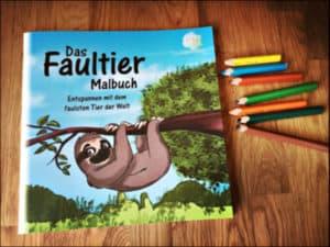 Das Faultier Malbuch - Entspannen mit dem faulsten Tier der Welt Cover