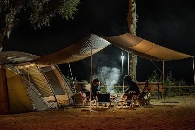 Feldbett beim Campen